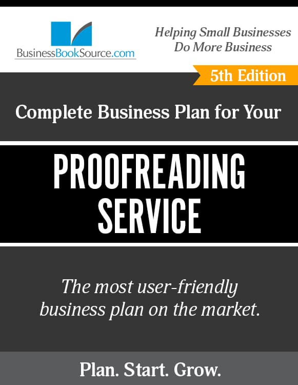 The Business Plan for Your Proofreading Service eBook